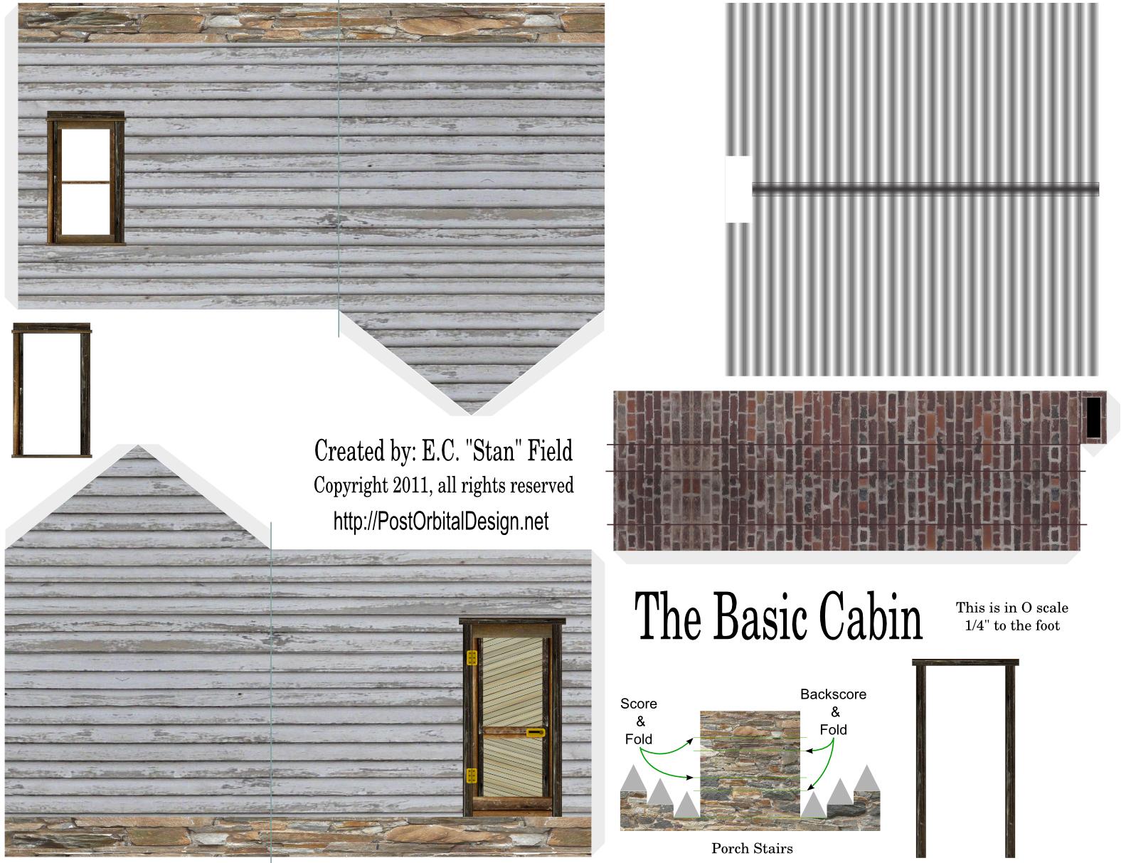 Scale models post orbital design - Printable ho scale building interiors ...